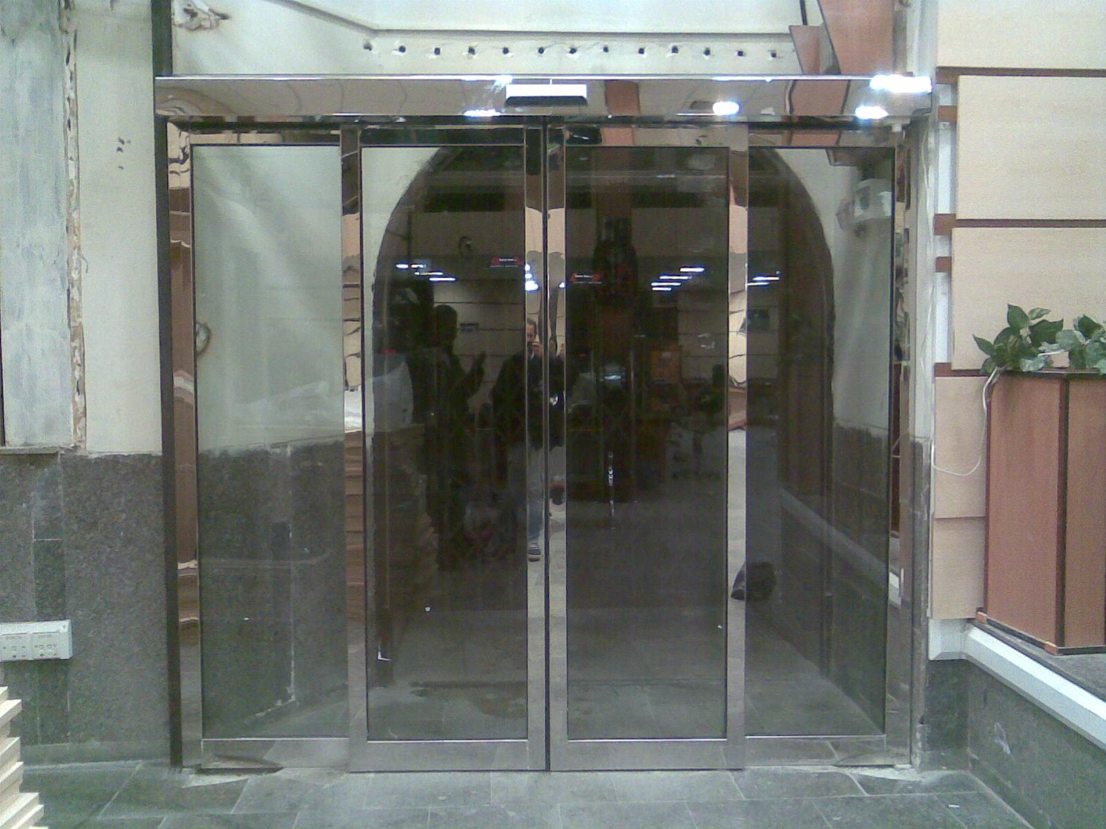 درب اتئماتیک شیشه ای مجتمع تجاری