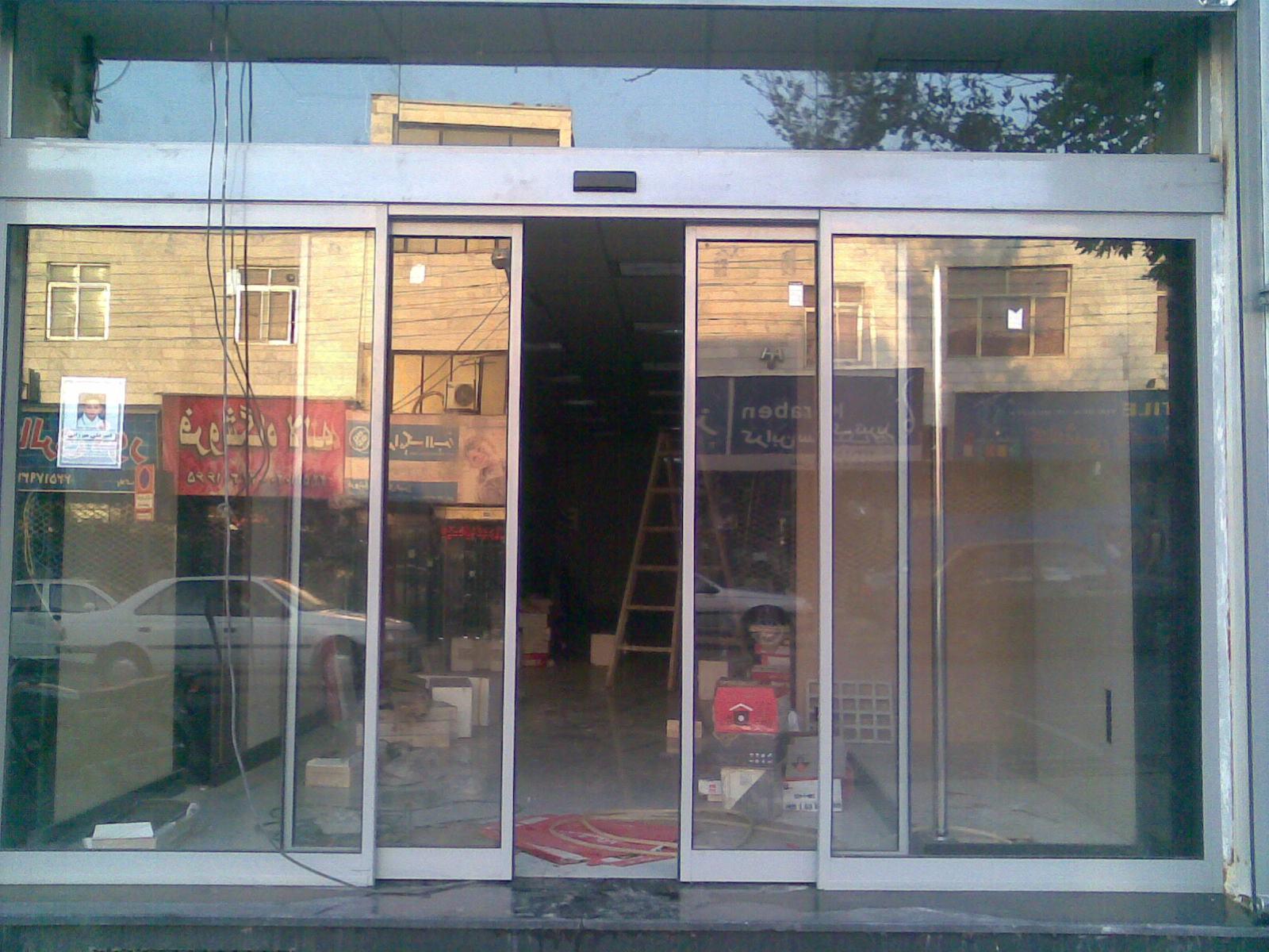 درب اتوماتیک شیشه ای امنیتی بانک