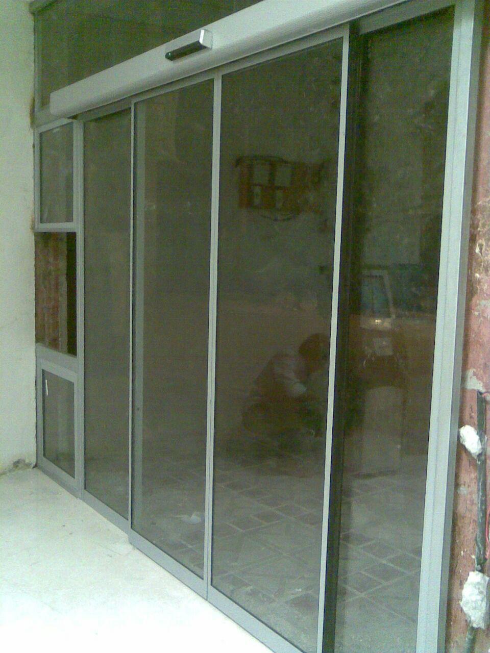 نصب و طراحی درب اتوماتیک شیشه ای برای بانک و دستگاه خود پرداز